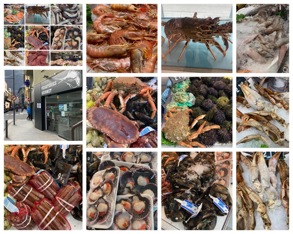 A Peixateries GOURMET portem peix i marisc per encàrrec, ens pot trucar al T.808003, qualsevol demanda de peix o marisc especial es pot portar a Andorra. En aquest cas llagostes d'1,250 kg.