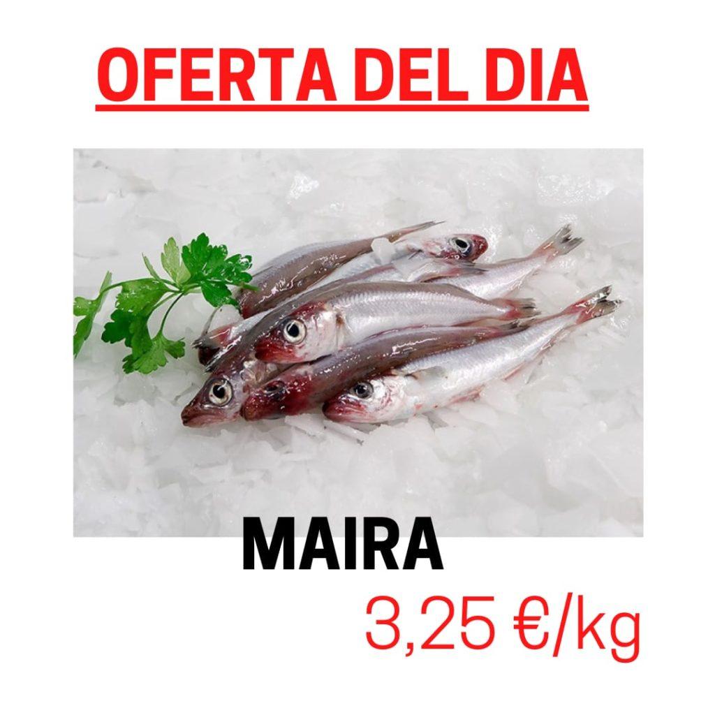 Avui dijous dia 25 de març del 2021 a Peixateries Gourmet Andorra tenim en oferta Maires i Sardines