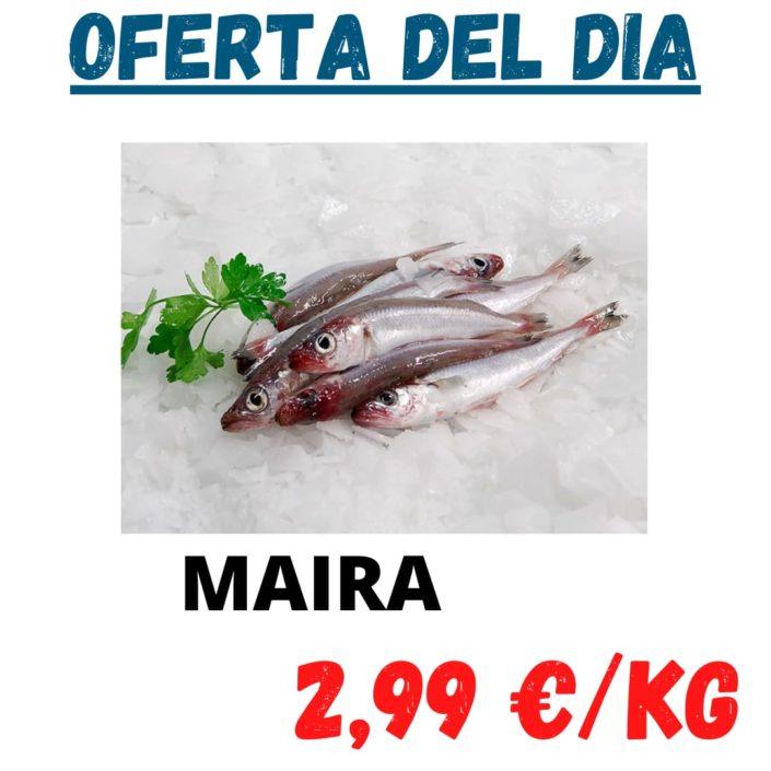 Avui divendres tenim en oferta Maira i Orada, dos peixos molt bons i saludables al millor preu del mercat.