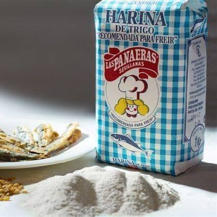 Per cada 20 € de compra regalem un paquet de farina especial per a fregir el peix, estil d'Andalusia