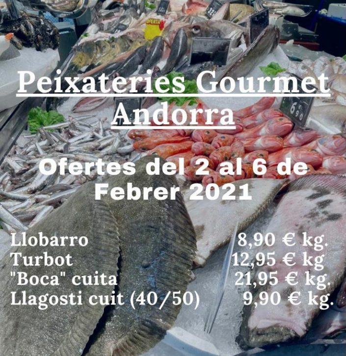 Ofertes de peix i marisc del 2 de febrer al 6 de febrer a Peixateries Gourmet Andorra