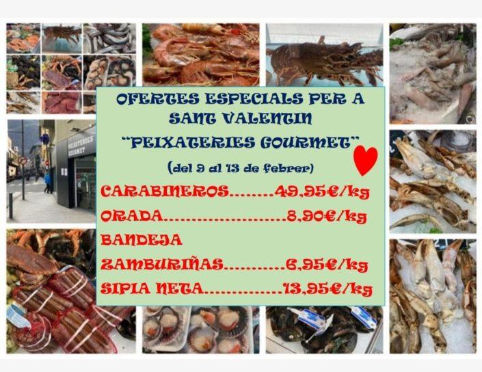 Ofertes peix i marisc del 9 al 13 de febrer - Ofertes especials Sant Valentí