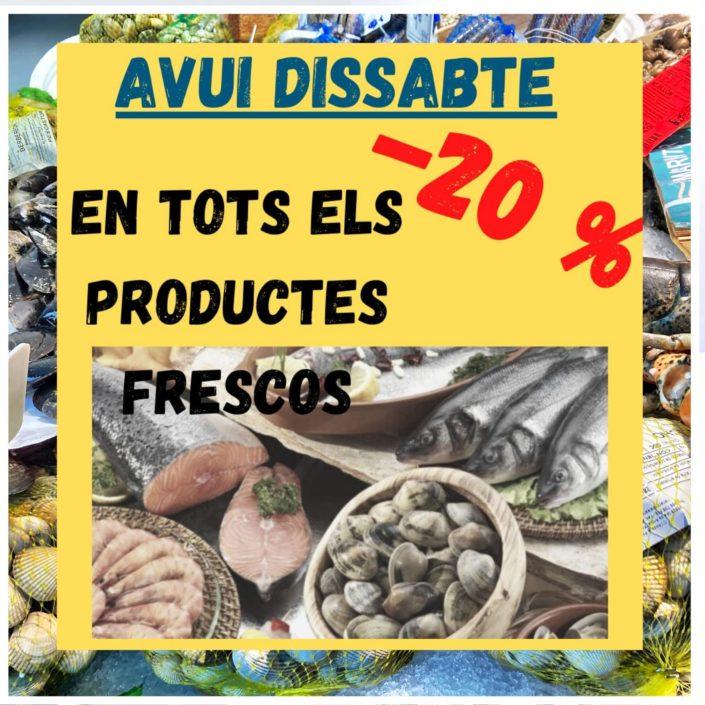 Peixateries Gourmet Andorra - Avui dissabte dia 1 de maig del 2021 descompte en tots els productes frescos d'un 20%